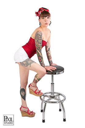 denver tattoo pin up photography