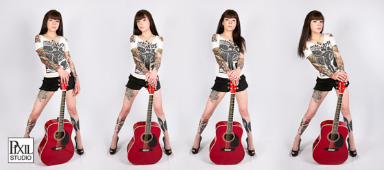 tattoo girl with guitar photo