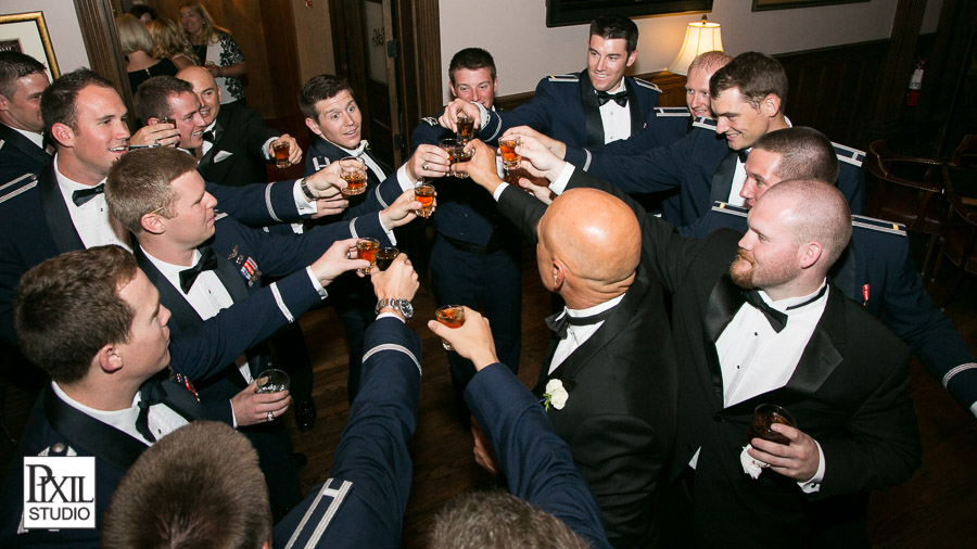 airforce wedding shot