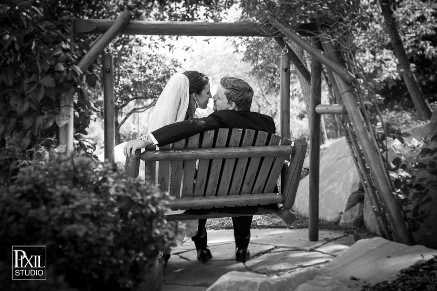 bridal portrait swing