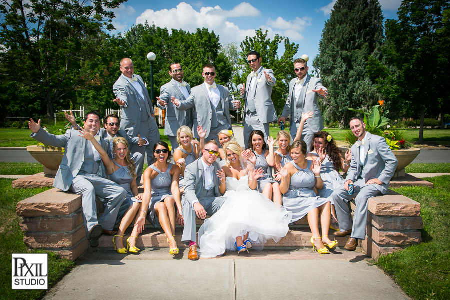 fun wedding bridal party denver