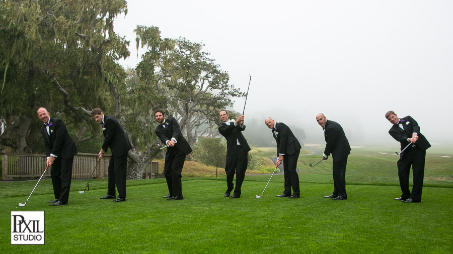 golf pebble beach wedding