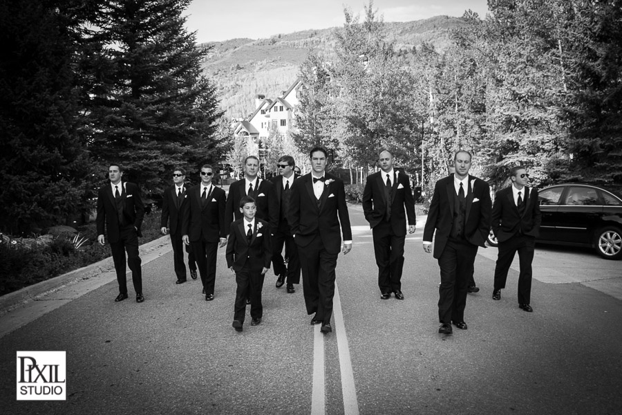 groomsmen walking