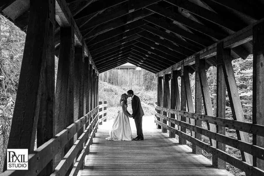 vail wedding covered bridge