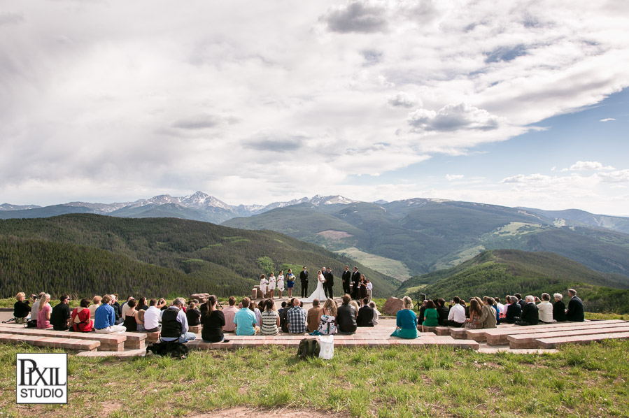 vail wedding deck