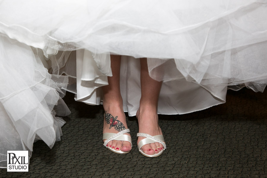 white wedding shoes tattoo