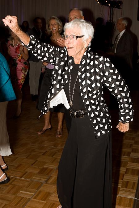 Dancing wedding grandma