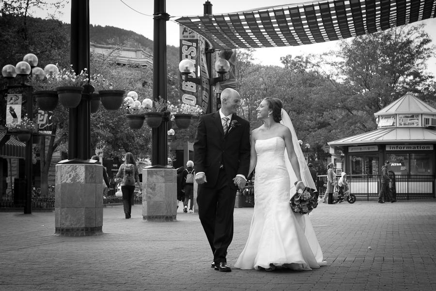 Pearl street boulder wedding