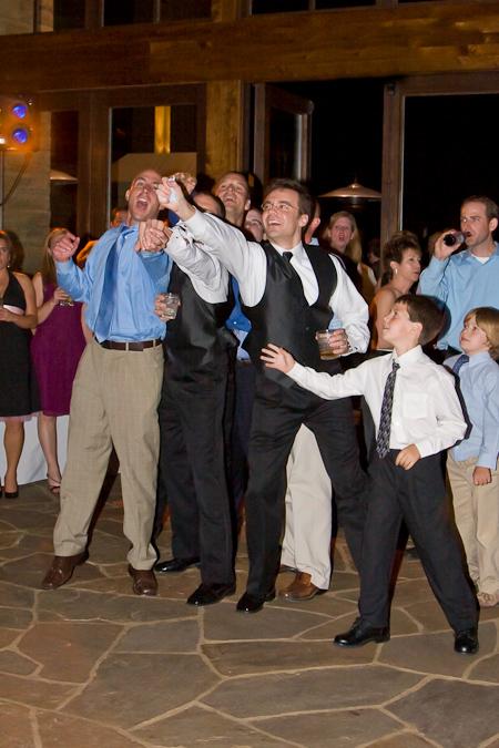denver wedding photographer garter toss