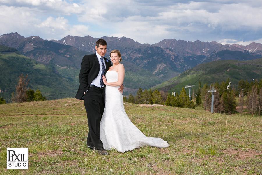 mountain top wedding vail