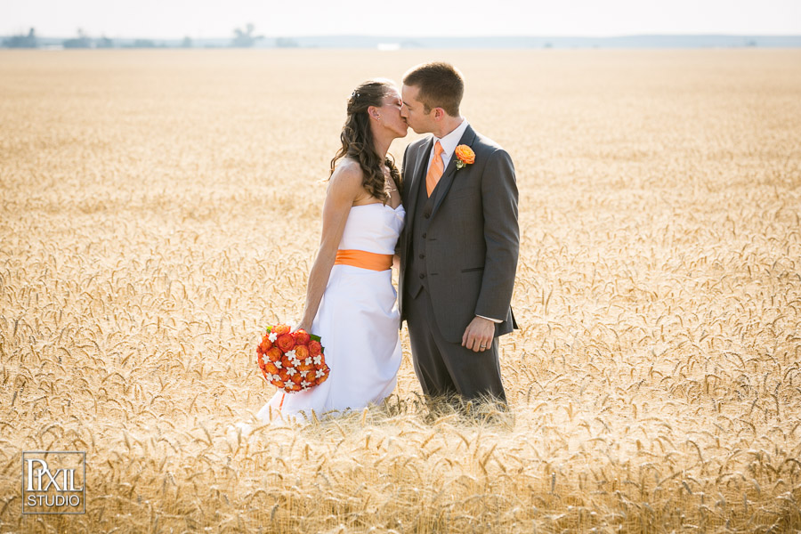 Farm Wedding Wheat Field